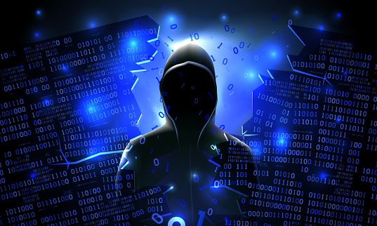 Hacker Using The Internet Hacked Abstract Computer Server Database Network  Storage Firewall Social Network Account Theft Of Data Stock Illustration -