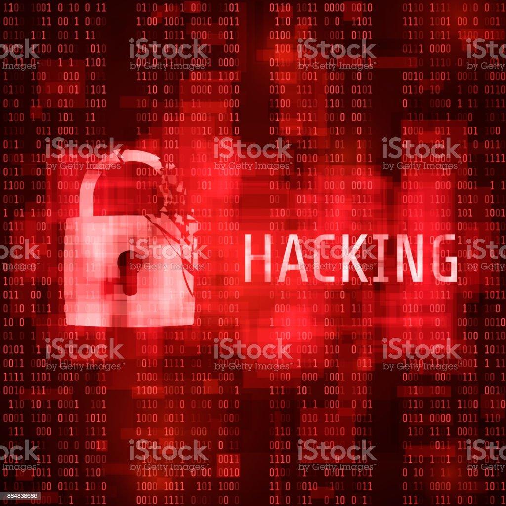 Ilustración de Hacking Ataques Cibernéticos De Hackers Programa ...