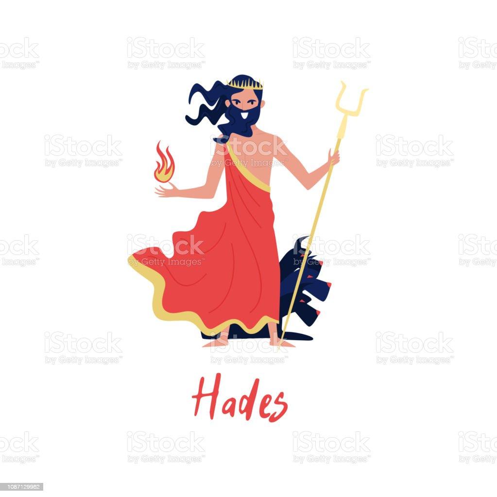 Vetores De Deus Do Grego Hades Mitos Antigos Da Grécia Dos