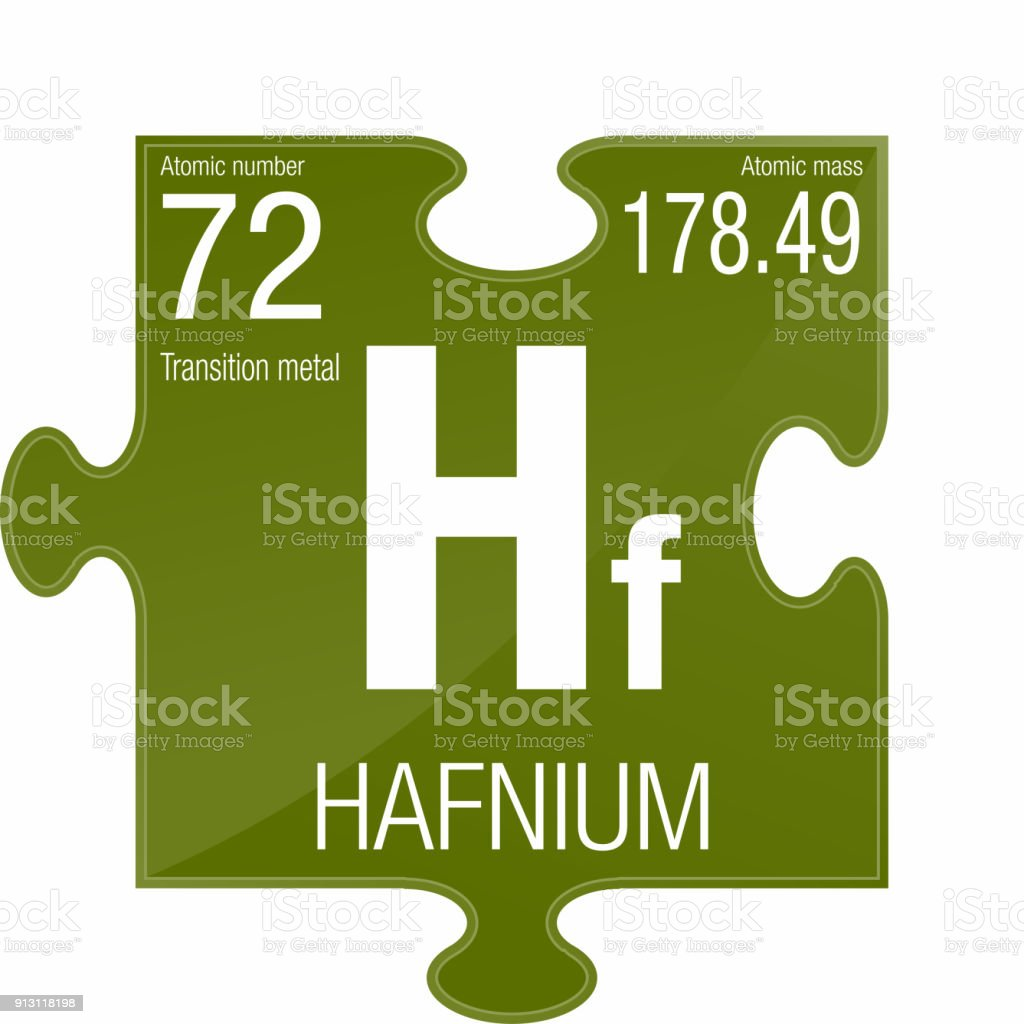 Hafnium Symbol Element Number 72 Of The Periodic Table Of The