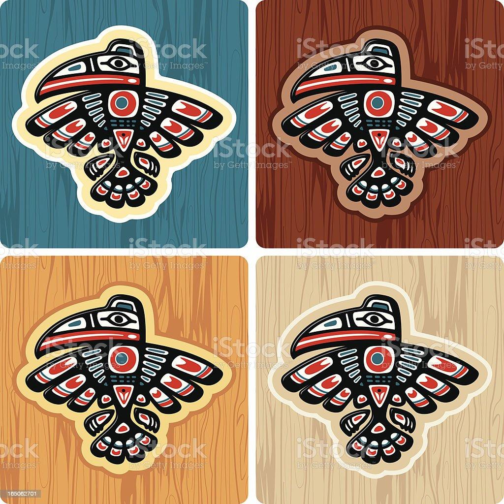ハイダ族トーテムポール型クロウ...