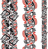 Haida style tattoo pattern