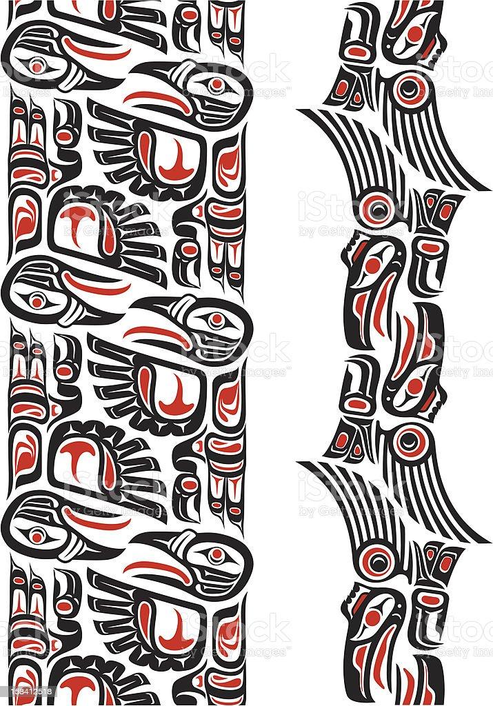 Haida Style Tattoo Pattern Stock Illustration Download