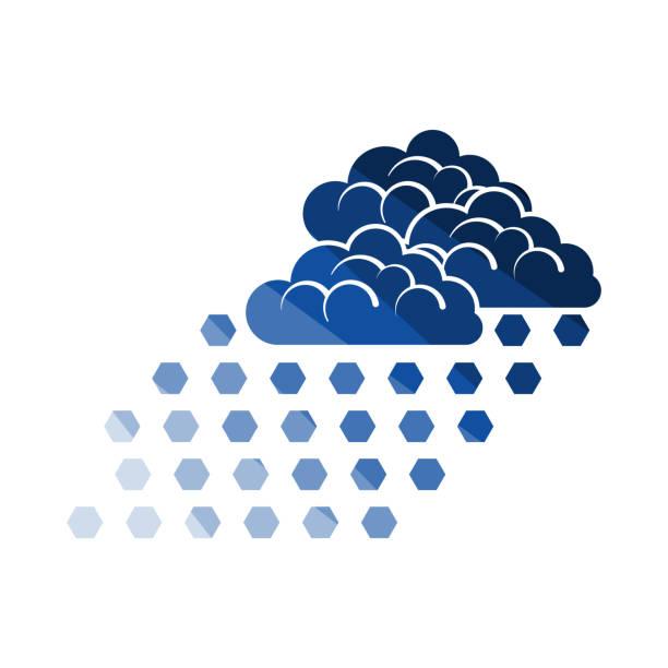 illustrazioni stock, clip art, cartoni animati e icone di tendenza di hail icon - grandine vector