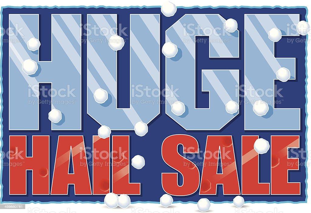 Hail Sale Heading C vector art illustration
