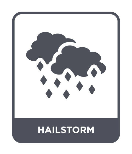 hailstorm icon vector on white background, hailstorm trendy filled icons from Meteorology collection hailstorm icon vector on white background, hailstorm trendy filled icons from Meteorology collection hailstorm stock illustrations