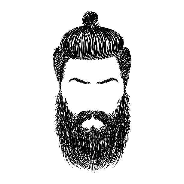 ilustrações, clipart, desenhos animados e ícones de cabelo e barbas - barba