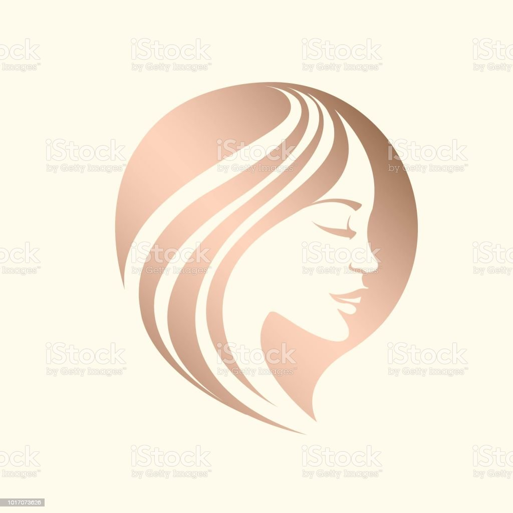 Hair And Beauty Salon Vector Logo Stock Vector Art More Images Of