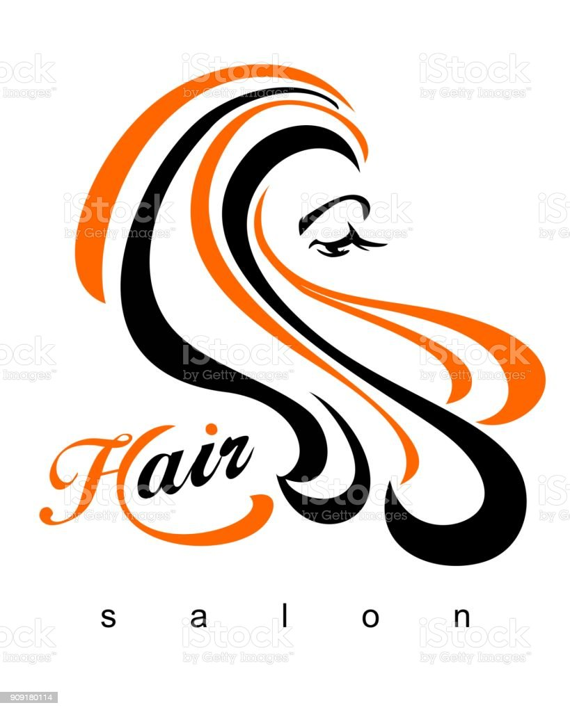 Hair .Beautiful stylish sexy woman.Beautiful hair. Hair salon.  Vector illustration of banner advertising of the beauty industry and fashion. vector art illustration
