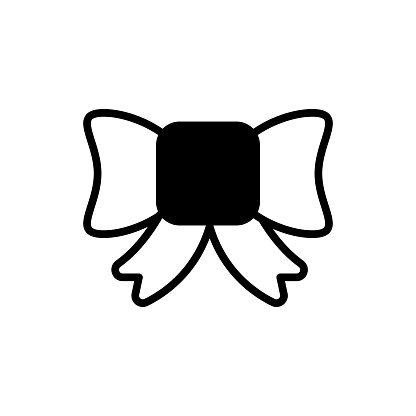 Hair bow  Vector Icon style illustration. EPS 10 File