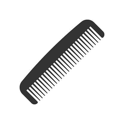 Hair brush icon in flat style. Comb accessory vector illustration on white isolated background. Hairbrush business concept.