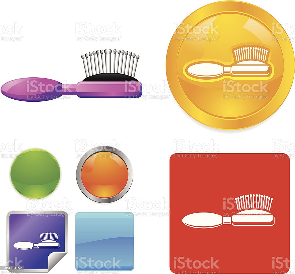 Hair Brush vector icons royalty-free stock vector art