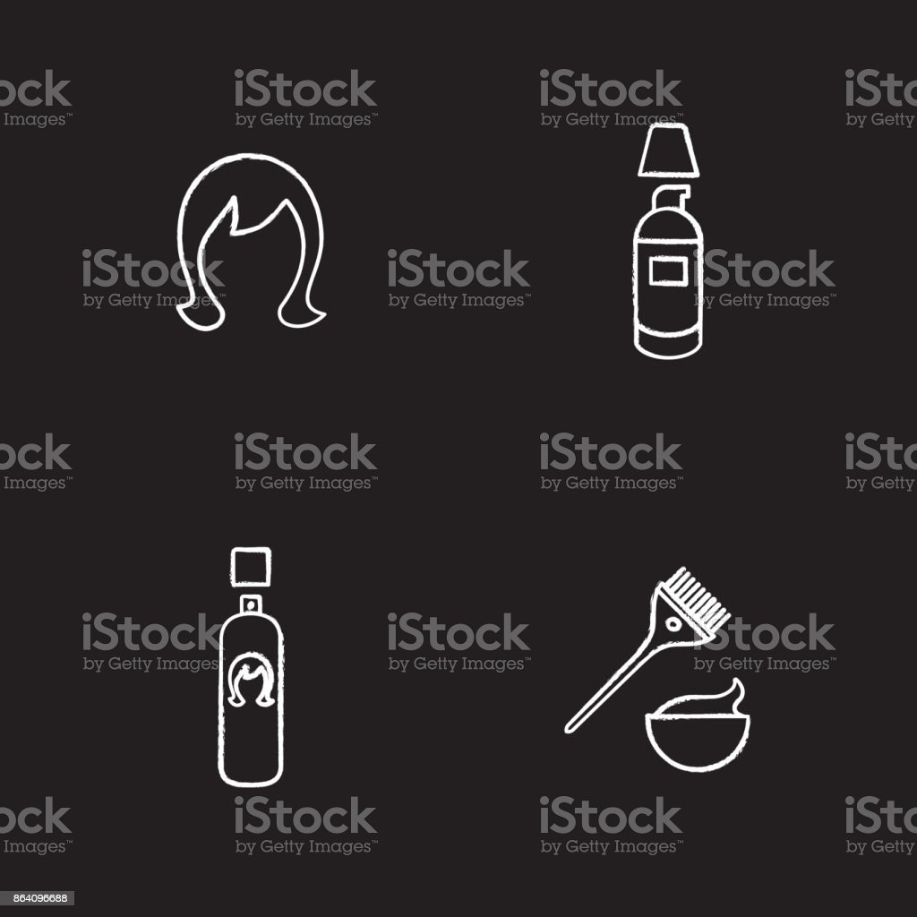 Hair care accessories icons royalty-free hair care accessories icons stock vector art & more images of bathroom