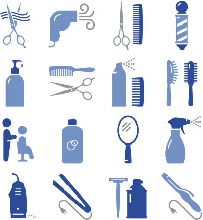 Hair Care Icons - Pro Series