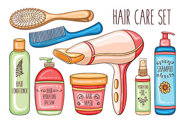 hair care combs clip brushes cosmetics vector beauty wash illustration hairdryer bottle adult equipment illustrations clipart similar bathtub istockphoto