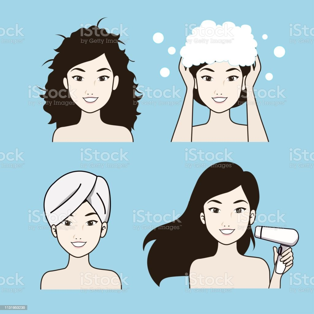 Hair Care Treatment Procedures 02 Stock Illustration Download Image Now Istock