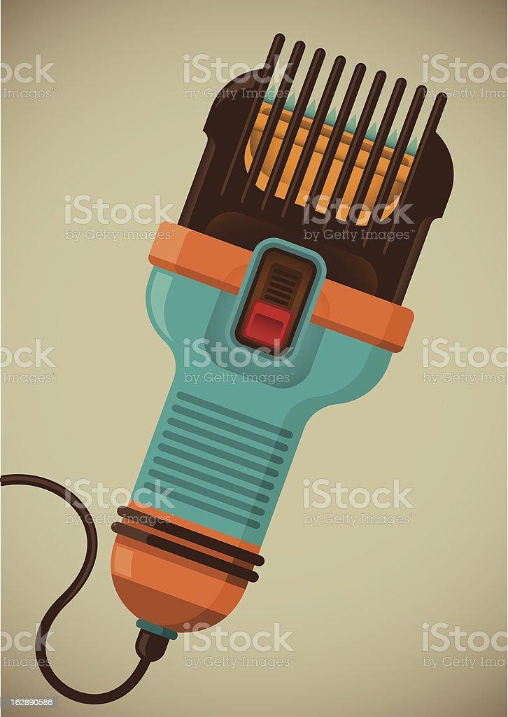 Hair clipper. royalty-free stock vector art