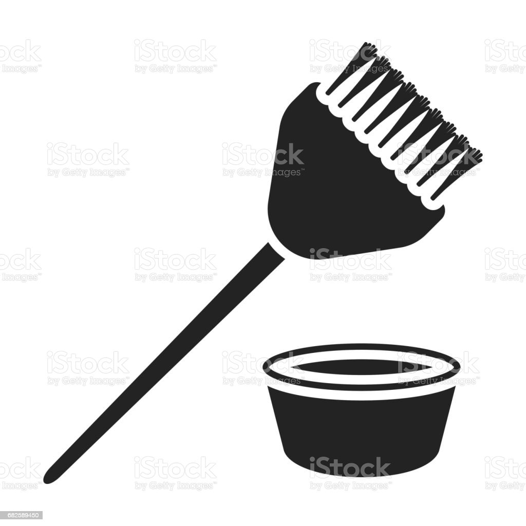 Royalty Free Hair Coloring Brush Clip Art Vector Images