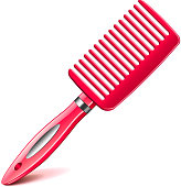 Hair comb isolated on white vector