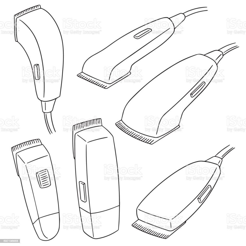 máquina de corte de cabelo - ilustração de arte em vetor