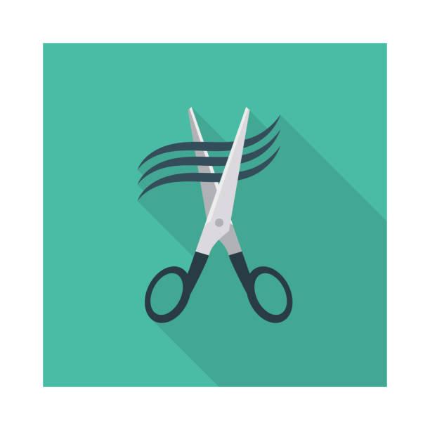 Haare Schneiden Schere Friseur – Vektorgrafik