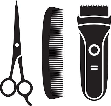 Hair Cutting Supplies Silhouettes