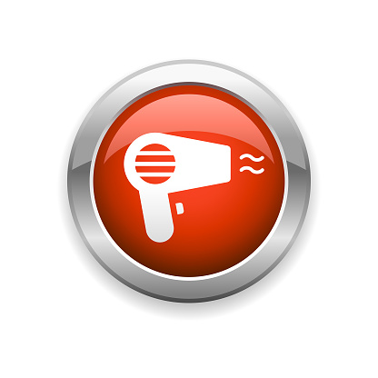 Hair Dryer Glossy Icon