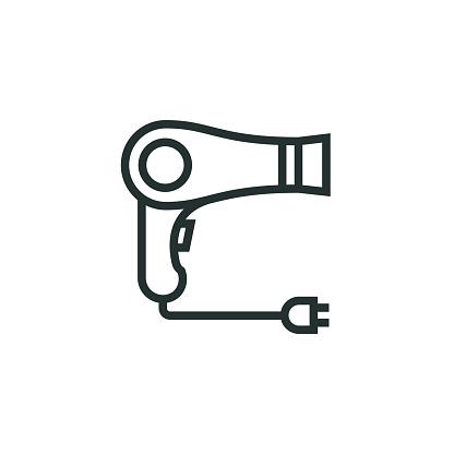 Hair Dryer Line Icon
