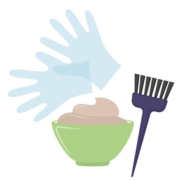 hair dye tools - bleach stock illustrations