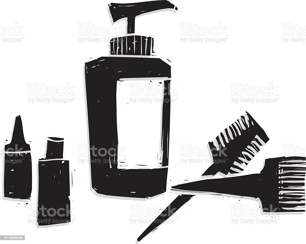 Hair dye vector art illustration