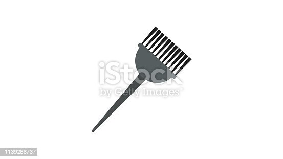 Hair dyeing flat icon