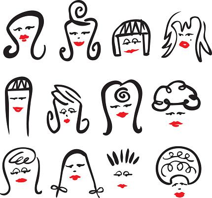 Hair Girls - vector