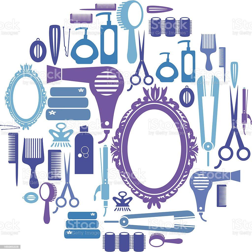 Hair Icon Set royalty-free stock vector art