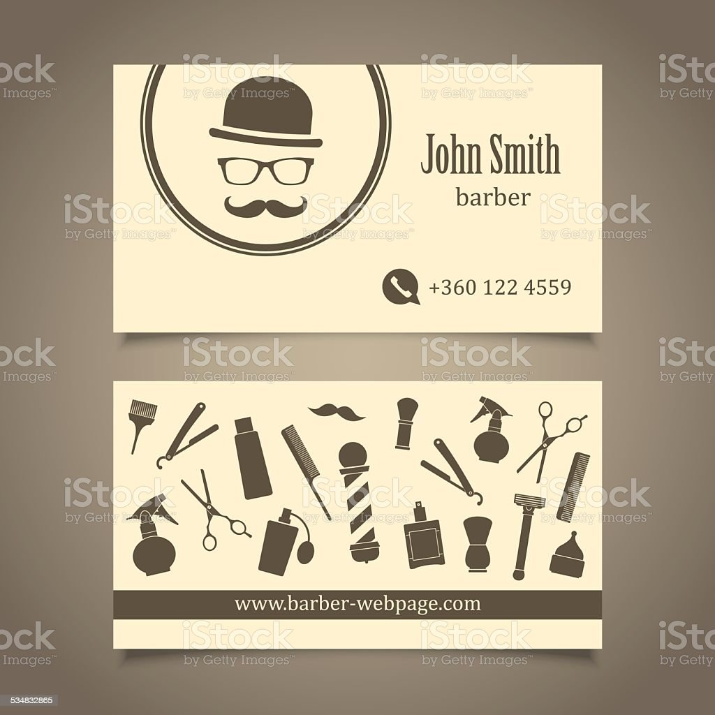Hair salon barber shop business card design template stock vector hair salon barber shop business card design template royalty free hair salon barber shop business flashek Choice Image