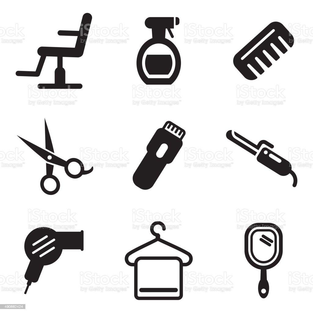 Friseur Salon Symbole Vektor Illustration 490882424 | iStock