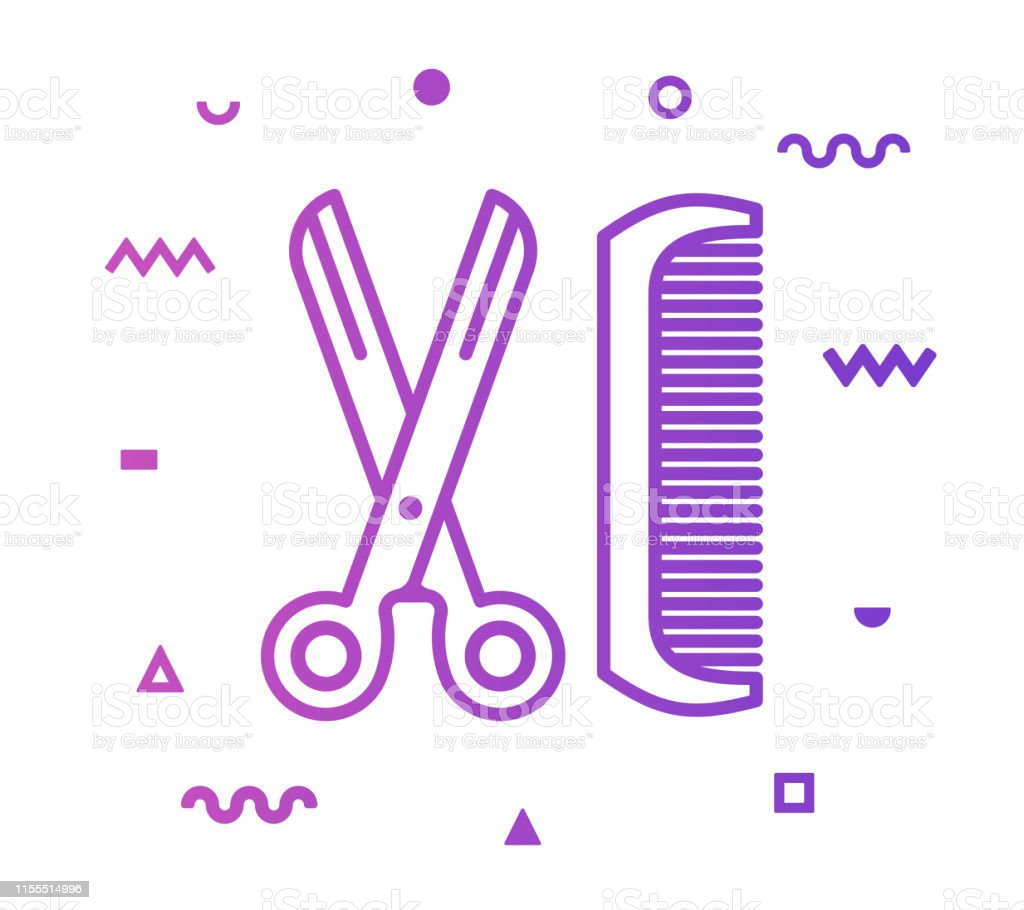 Vetores De Hair Salon Linha Design Icon Estilo E Mais Imagens De Arranjar Istock