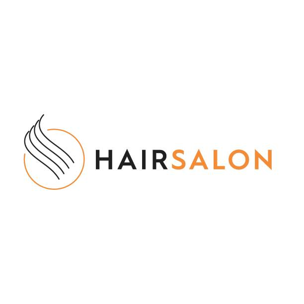 ヘアサロンロゴ - 美容室点のイラスト素材/クリップアート素材/マンガ素材/アイコン素材