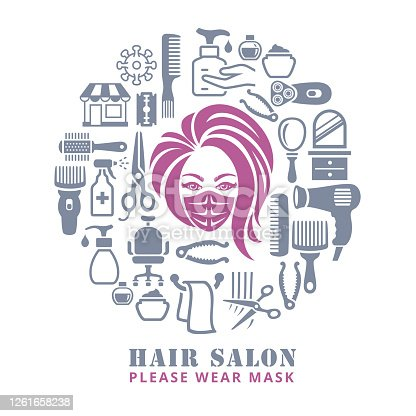 istock Hair Salon. Opening after quarantine. 1261658238
