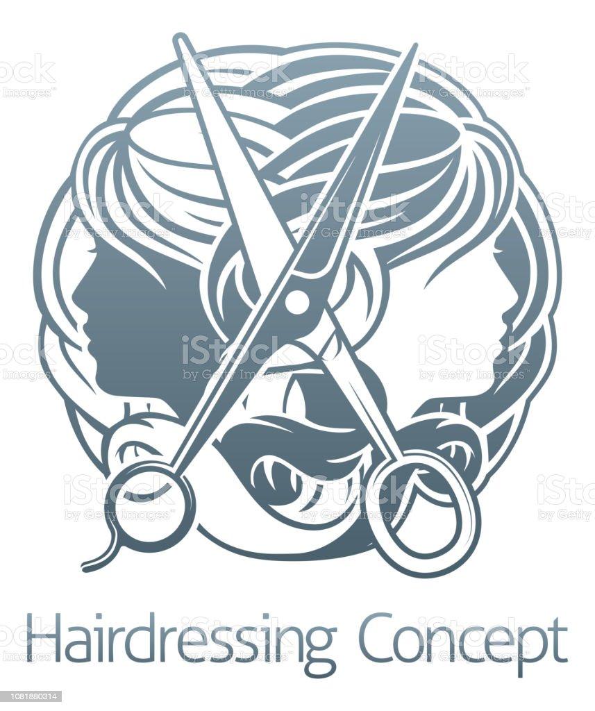 Hair Salon Stylist Hairdresser Icon vector art illustration