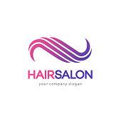 Hair salon vector design template