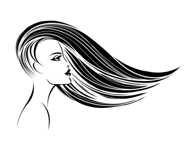 濡れた髪 イラスト素材 Istock