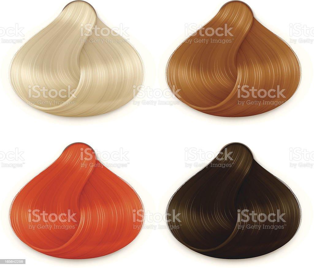 Hair Shades Chart royalty-free hair shades chart stock vector art & more images of beauty