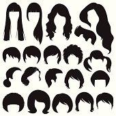 hair silhouettes,  hairstyle