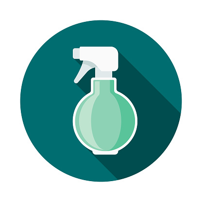 Hair Spray Bottle Flat Design Beauty Icon with Side Shadow