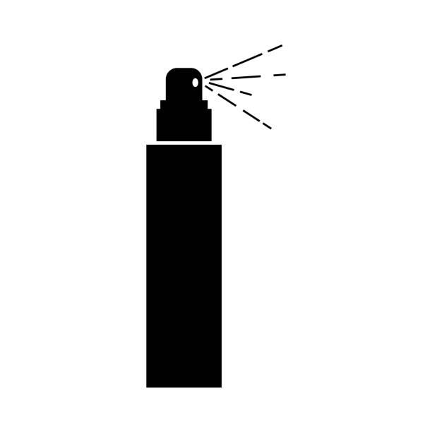 hair spray icon vector illustration aerosol can stock illustrations
