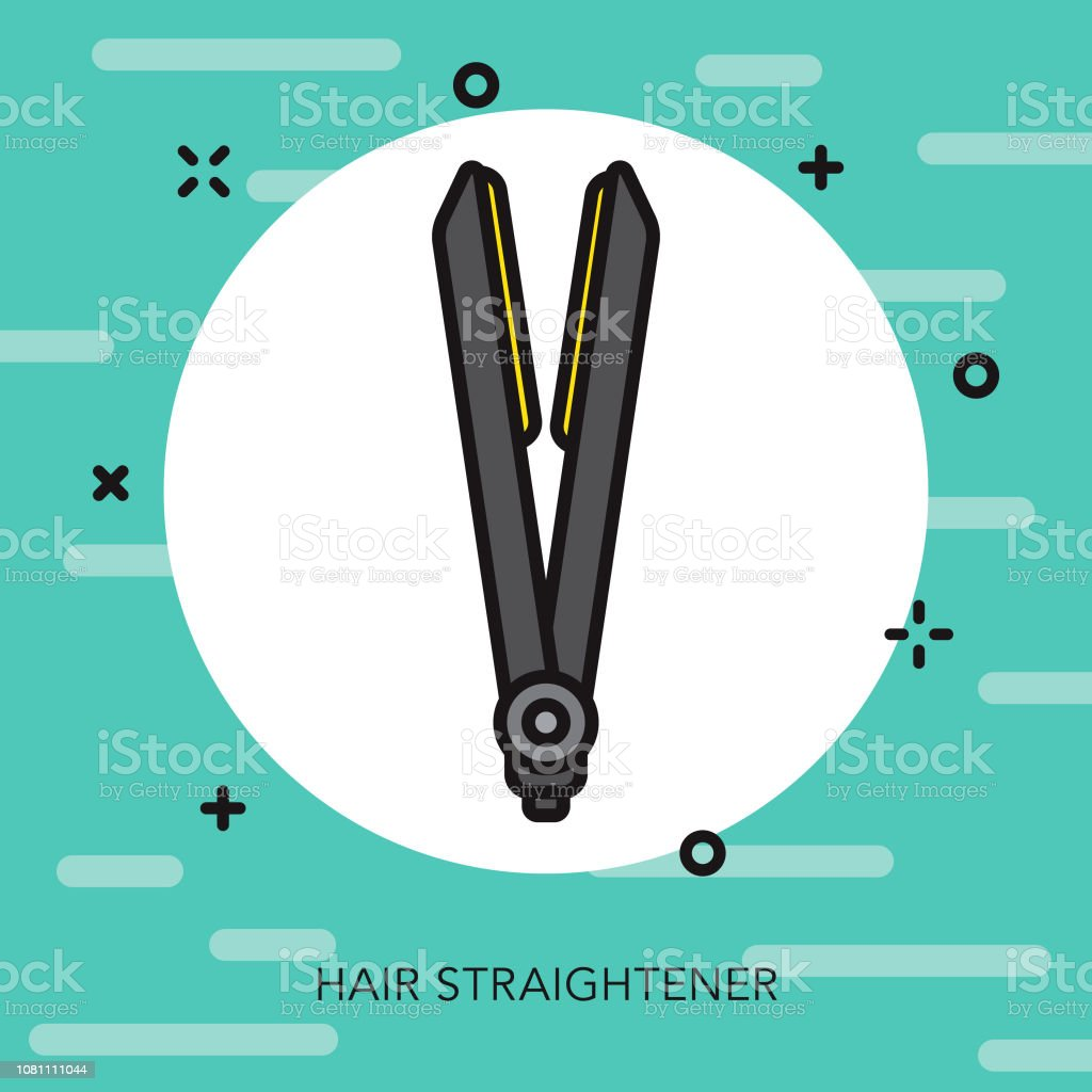 Hair Straightener Thin Line Appliance Icon Stock Illustration - Download  Image Now