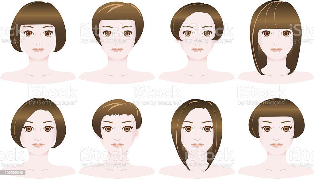 hair style - bob royalty-free stock vector art