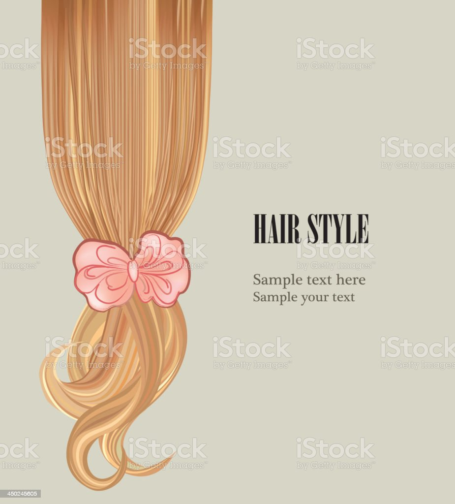 Hair style design. royalty-free stock vector art