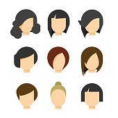 Hair styling vector illustration isolated on white background