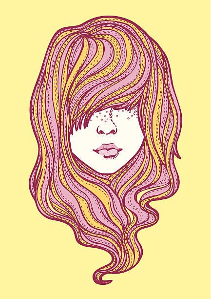 illustrations, cliparts, dessins animés et icônes de cheveux! - femme tache de rousseur
